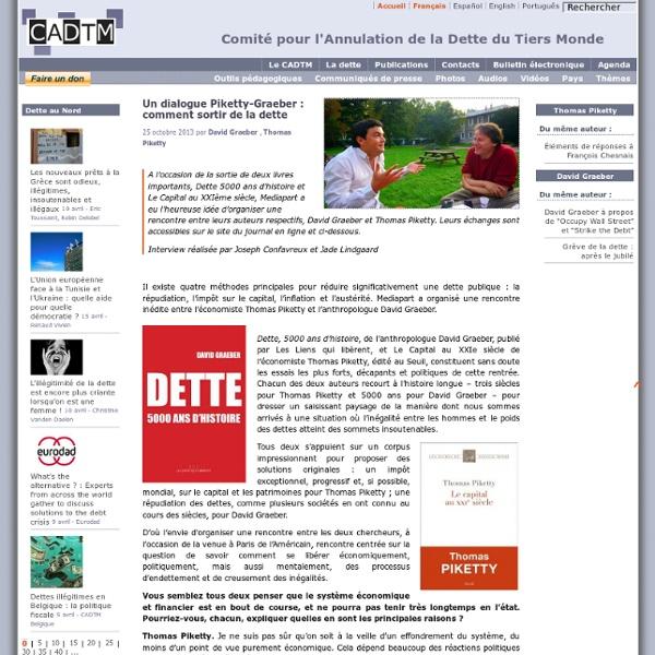 Un dialogue Piketty-Graeber : comment sortir de la dette