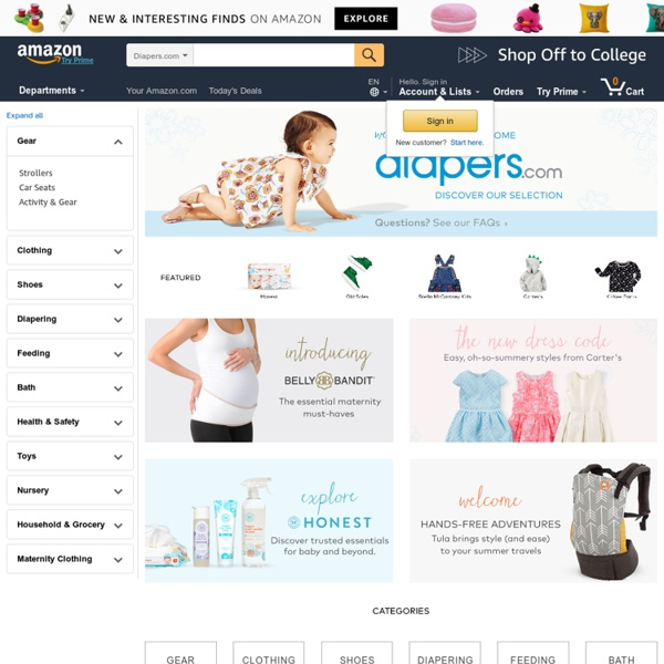Car Seats, Strollers, Diapers & More