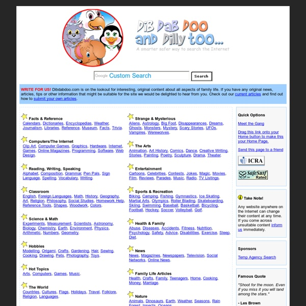 Dibdabdoo.com child kid safe search