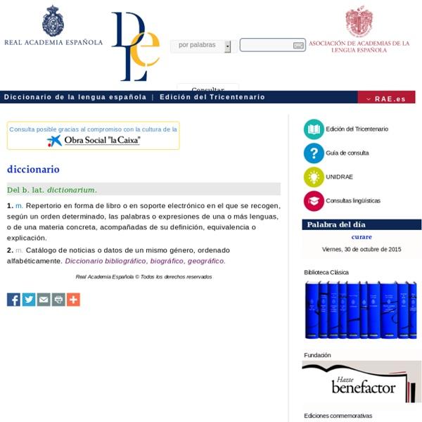 DLE: diccionario - Diccionario de la lengua española - Edición del Tricentenario