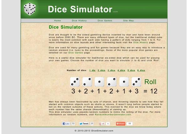 Dice Simulator - Random Dice - Dice History