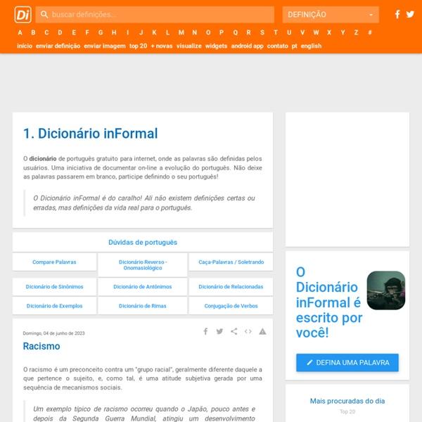 Dicionário Online - Dicionário inFormal