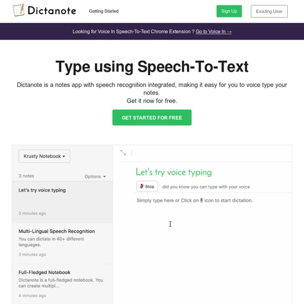 Dictanote - Make your voice work for you