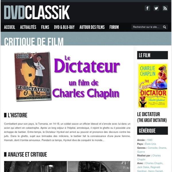Le Dictateur de Charles Chaplin (1940