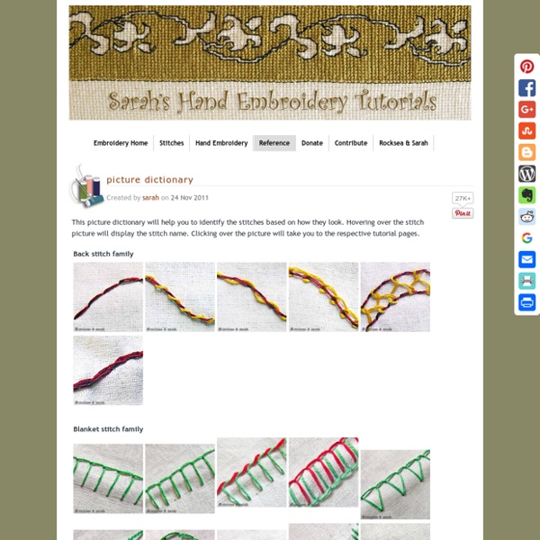 Picture dictionary » Sarah's Hand Embroidery Tutorials
