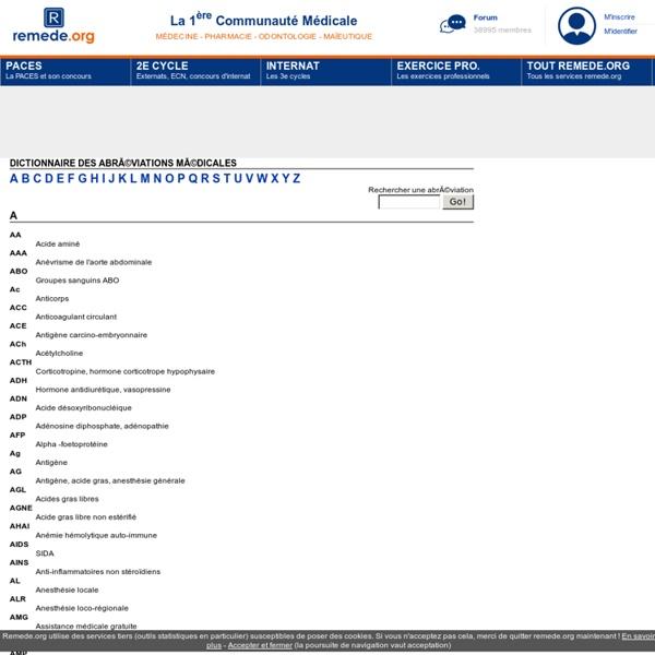 Dictionnaire des abréviations médicales