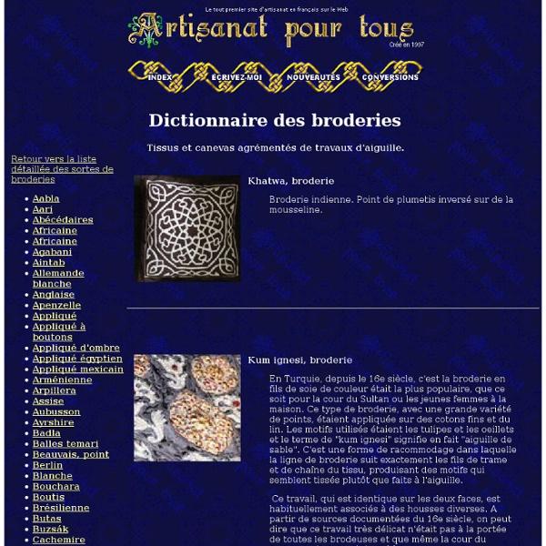 Dictionnaire des Broderies