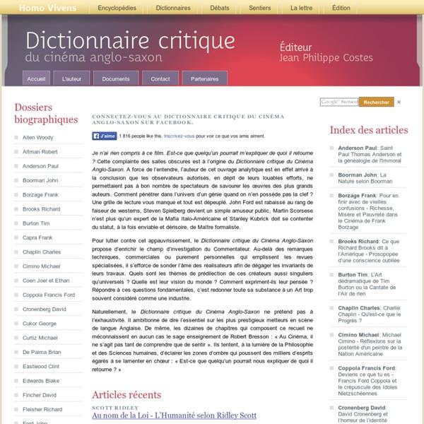 Dictionnaire du cinéma anglo-saxon
