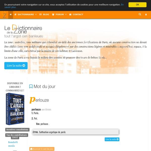 Le Dictionnaire de la Zone © Cobra le Cynique