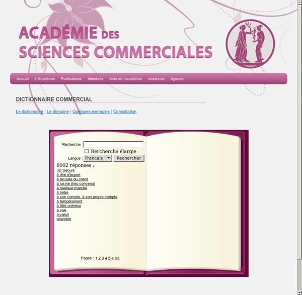 Dictionnaire Commercial