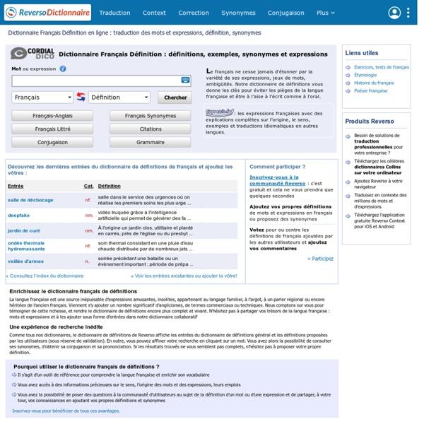 Dictionnaire français