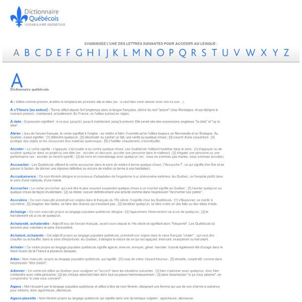 Dictionnaire québécois