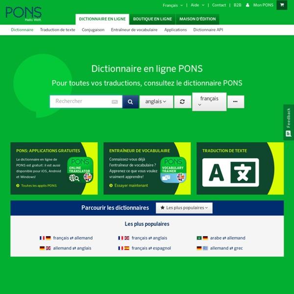Le dictionnaire gratuit pour les langues étrangères, l'orthographe allemande et la traduction de textes