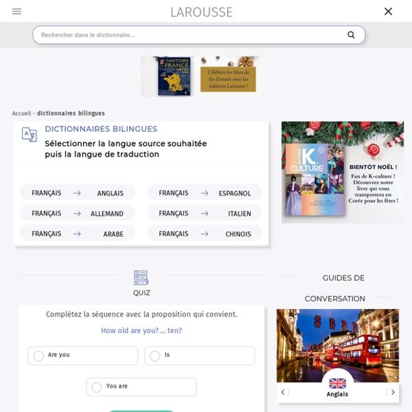 Dictionnaires Larousse bilingues en ligne