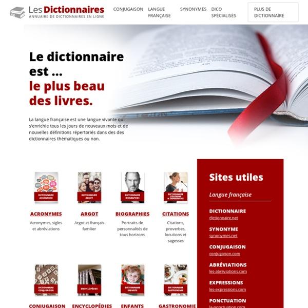DICTIONNAIRE - Annuaire de dictionnaires en ligne