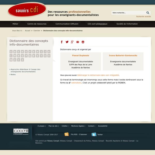 Dictionnaire des concepts info-documentaires