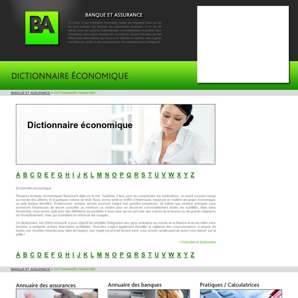 Dictionnaire financier