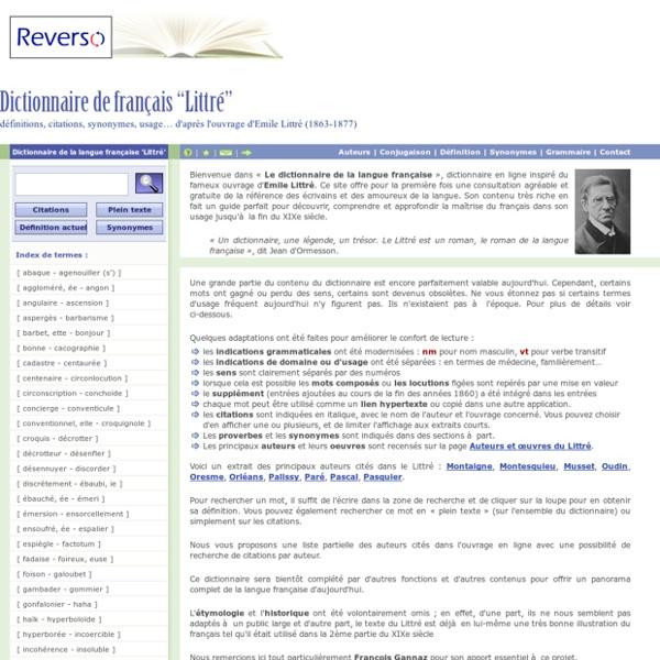 de langue francaise en ligne