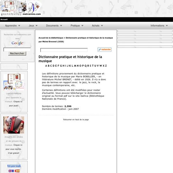 Dictionnaire pratique et historique de la musique