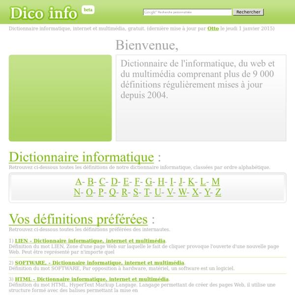 Dictionnaire informatique, internet et multimédia