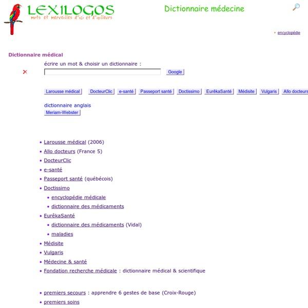 DICO_LEXILOGOS_Dictionnaire médical en ligne