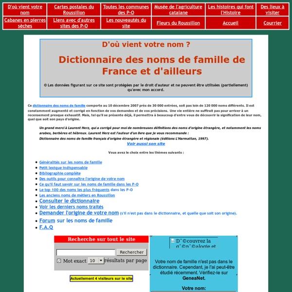 Noms de famille