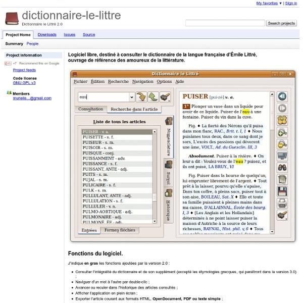 Dictionnaire-le-littre - Dictionnaire le Littré 2.0
