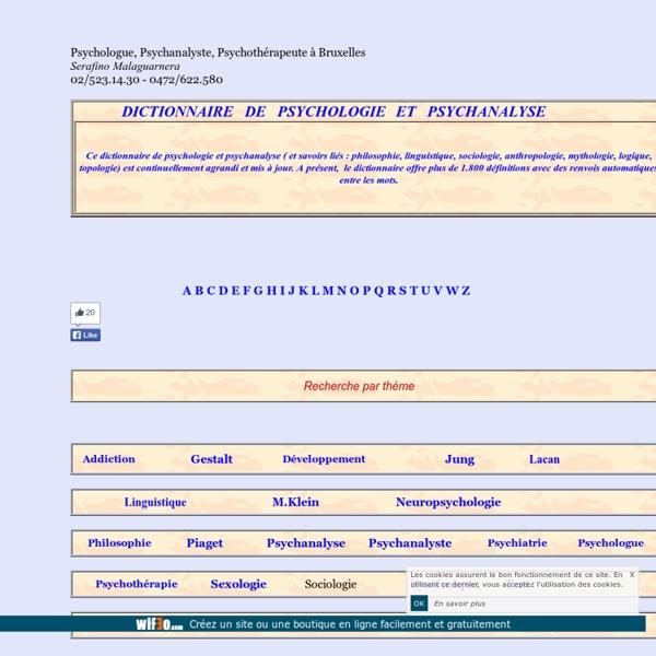 Dictionnaire de psychologie et psychanalyse