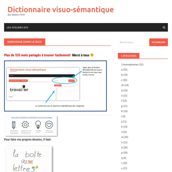 Dictionnaire visuo-sémantique – des ateliers 'DYS'