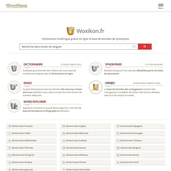 Encyclopédie en ligne - dictionnaire – regarder des traductions et synonymes gratuitement