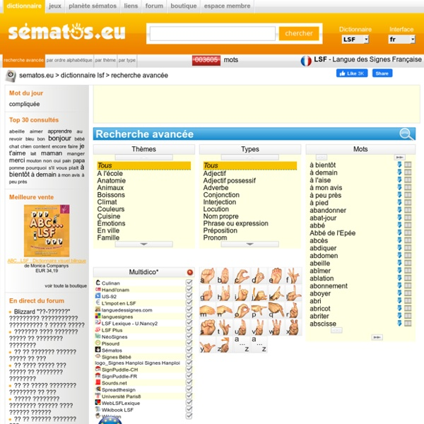 Dictionnaire vidéo de la LSF : 3600 mots