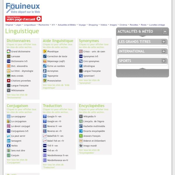 Dictionnaires du Fouineux