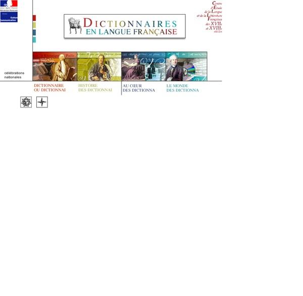 Dictionnaires en langue française