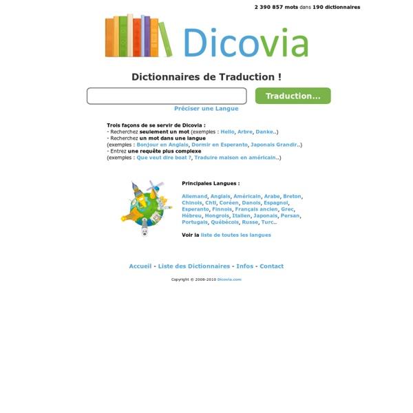 Dictionnaires de Traduction