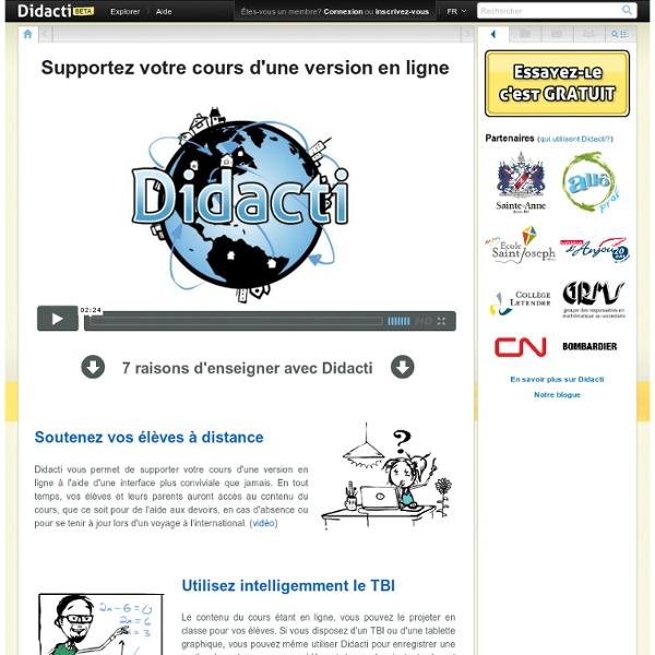 Didacti: partage matériel gratuit