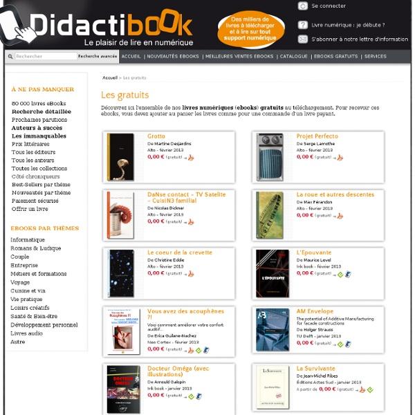 Les gratuits, Didactibook - Librairie de livres numériques (eBooks)