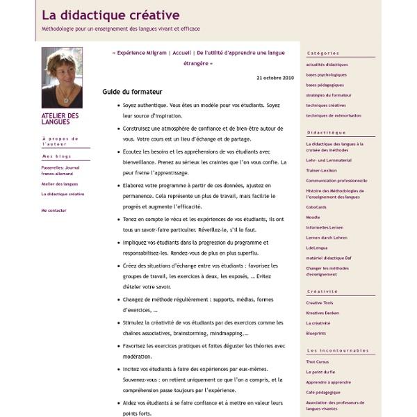 La didactique créative: Guide du formateur