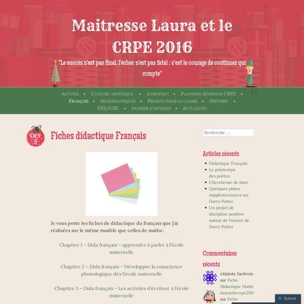 Maitresse Laura et le CRPE 2016