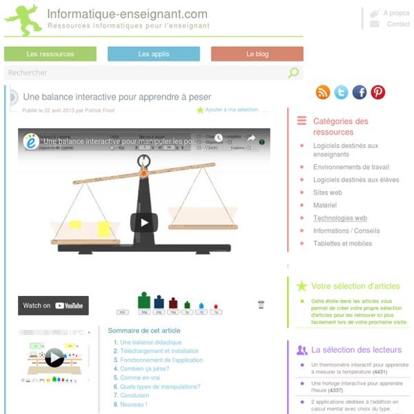 balance didactique interactive pour apprendre peser pearltrees. Black Bedroom Furniture Sets. Home Design Ideas
