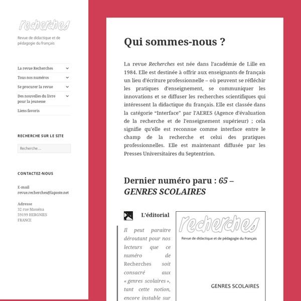 Revue de pédagogie et de didactique du français