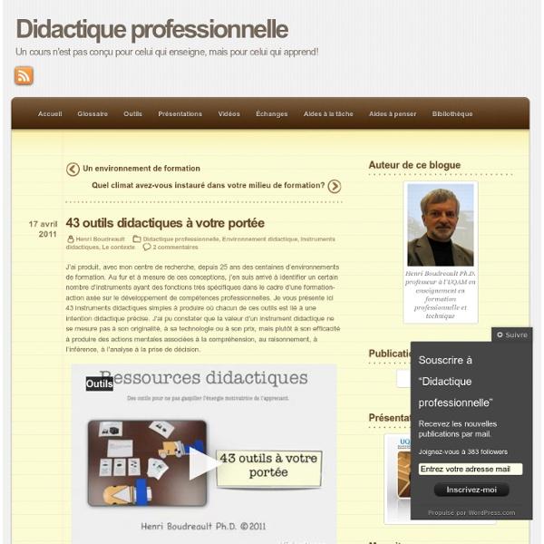 43 outils didactiques à votre portée