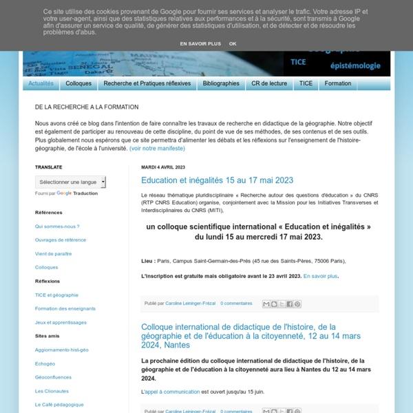 DIDAGEO, le blog de la didactique de la géographie