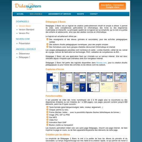Didapages 2 - Logiciels et services pour l'enseignement, la formation et la création multimédia