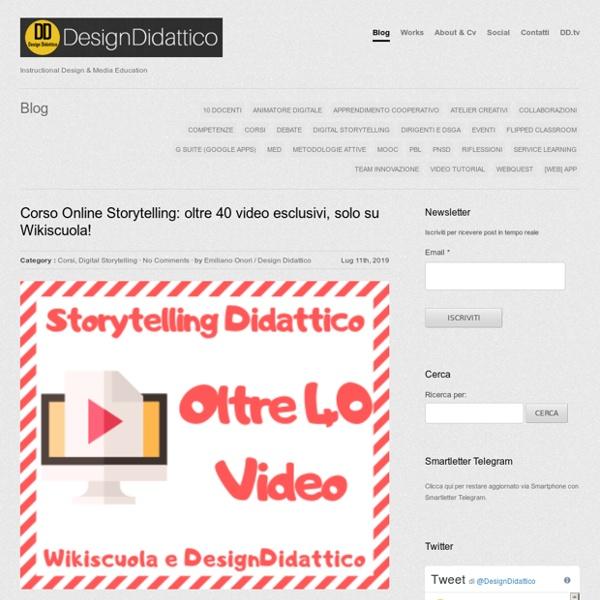 Design Didattico - Instructional Design & Media Education