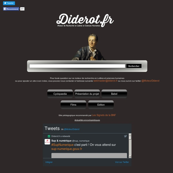 Diderot.fr/Lettres et sciences humaines