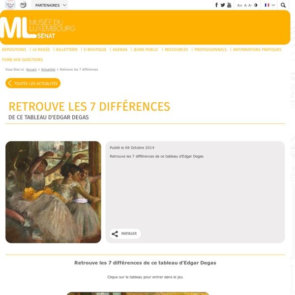 Musee du Luxembourg Jeux, Puzzle, Degas, Danse, Jeune public, Enfants