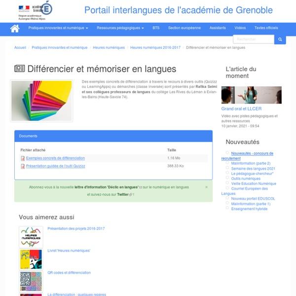 Portail interlangues de l'académie de Grenoble