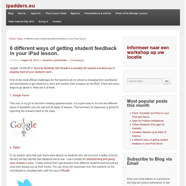6 different ways of getting student feedback in your iPad lesson.