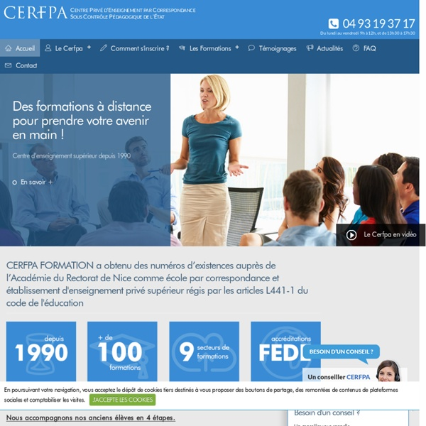Formation par correspondance distance diplomante cerfpa e learning psychologie ressources humaines