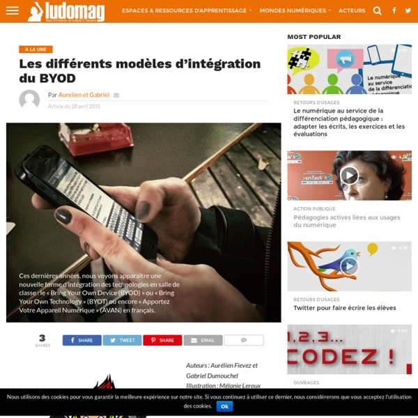 Les différents modèles d'intégration du BYOD